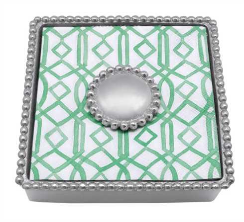 Mariposa   PEARL NAPKIN BOX $48.00