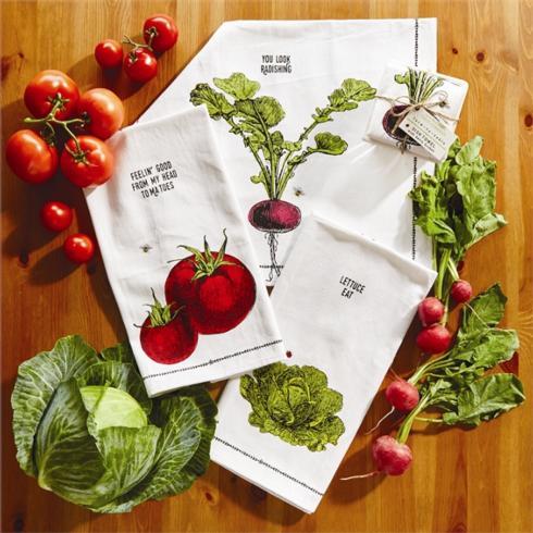 Two's Company   FARM TO TABLE DISHTOWEL - RADISH $18.00