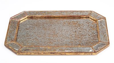 Abigails  TRAYS AND CATCHALLS MIRRORED TRAY WITH GOLD FINISH $156.00