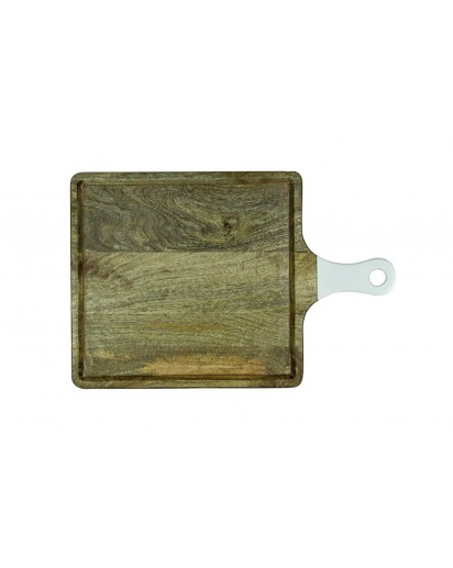 Montes Doggett   SQUARE CUTTING BOARD WITH HANDLE $70.00