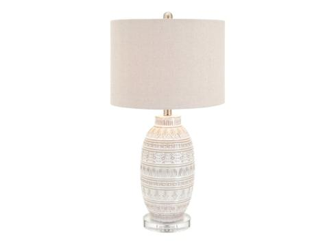 IMAX   ADDONIS CERAMIC TABLE LAMP $168.00