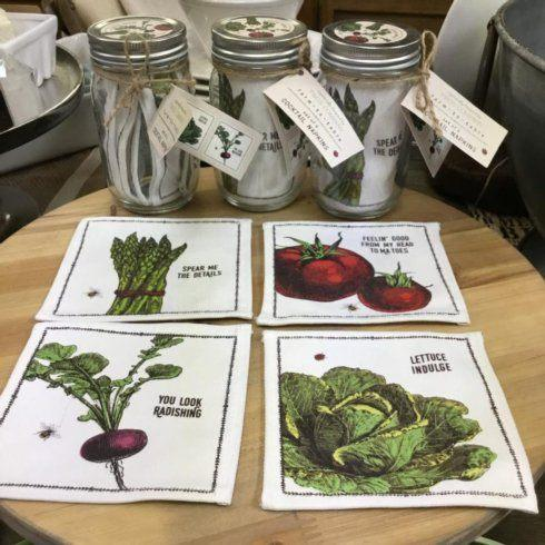 Two's Company   FARM TO TABLE COCKTAIL NAPKINS - SET OF 4 $16.00