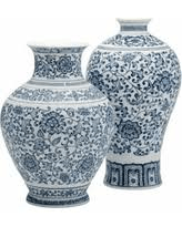 Two's Company   BLUE AND WHITE VASE  $90.00