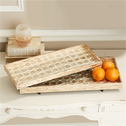 Two's Company   MOTHER OF PEARL TRAY - SMALL $66.00