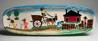 Clementine Hunter   COTTON MURAL PLATTER $158.00