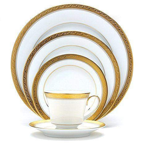 Noritake  CRESTWOOD GOLD 5 PIECE PLACE SETTING $60.00