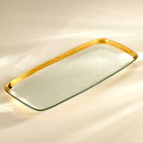 John Ward Exclusives  ANNIE GLASS EXTRA LARGE RECTANGULAR PLATTER $234.00