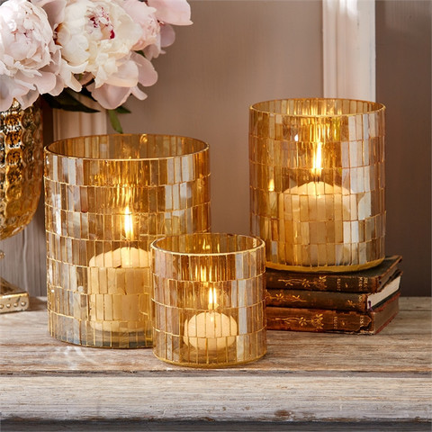 $31.25 CRYSTAL CANDLE HOLDER MEDIUM