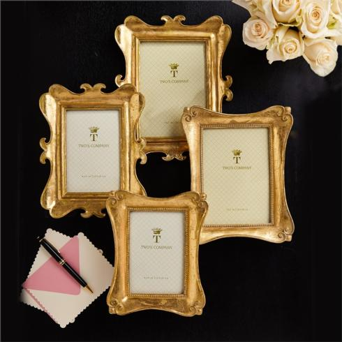 Two's Company   GOLD LEAF FRAME - 4X6 $28.00