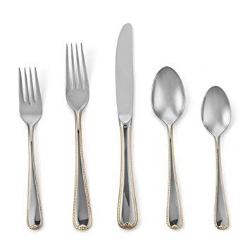 John Ward Exclusives  GORHAM - GOLDEN RIBBON EDGE 5 PIECE PLACE SETTING $50.00