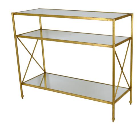 $750.00 GOLD CONSOLE TABLE