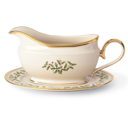 Lenox  HOLIDAY SAUCE BOAT WITH STAND $209.95
