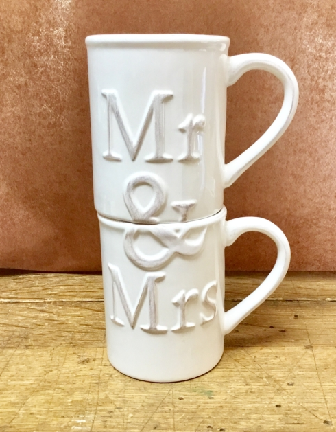 John Ward Exclusives  MISCELLANEOUS MR. & MRS. COFFEE CUP SET $25.00