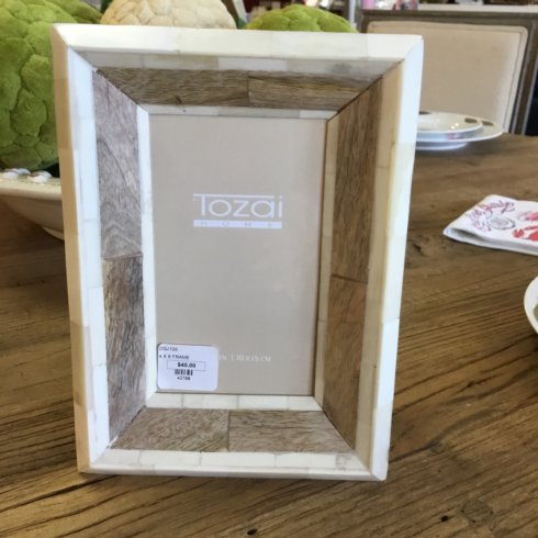 John Ward Exclusives  MISCELLANEOUS BONE FRAME WITH WOOD ACCENTS $40.00