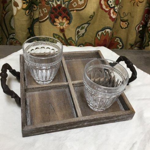 Pomeroy   FOUR SECTION WOODEN TRAY $64.00