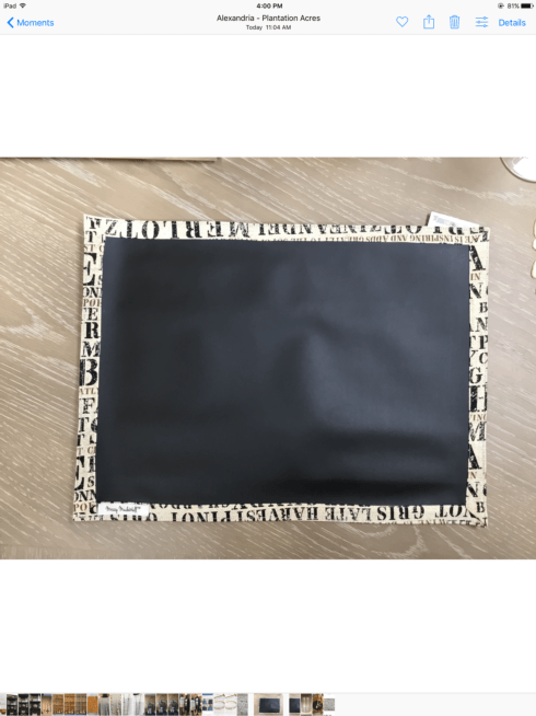 John Ward Exclusives  MISCELLANEOUS DOUBLE SIDED CHALKBOARD PLACEMAT $16.00
