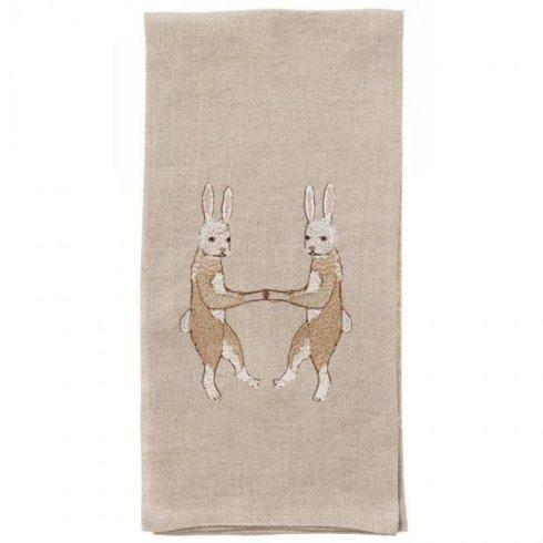 Coral and Tusk   DANCING RABBITS TEA TOWEL $40.00