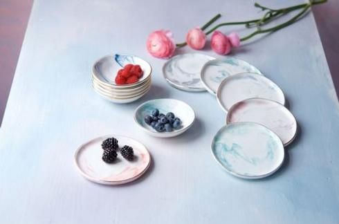 One Hundred 80º   MARBLED SMALL SAUCER - TEAL $10.00