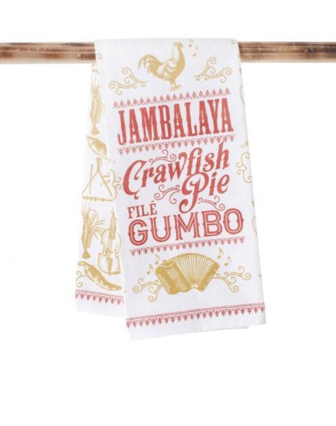 John Ward Exclusives  SECOND LINE VENTURES JAMBALAYA CRAWFISH PIE TEA TOWEL $15.00