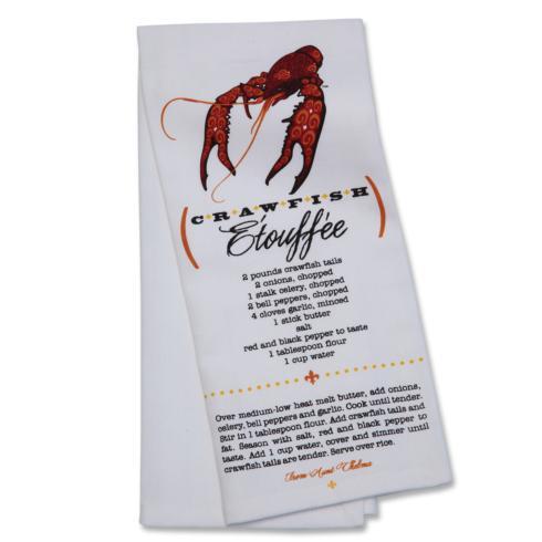 $13.00 CRAWFISH ETOUFEE TEA TOWEL