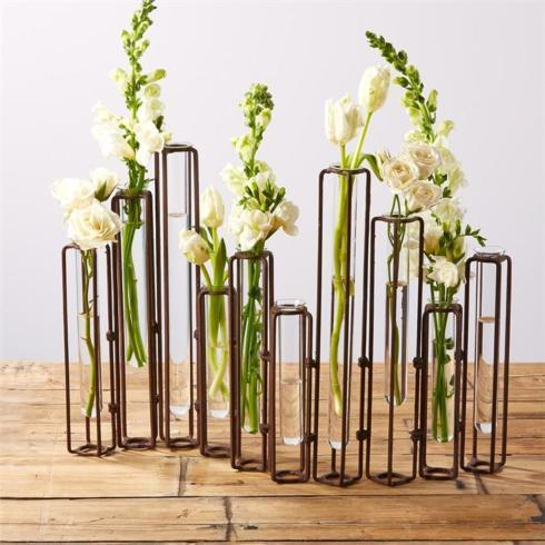$160.00 RUST HINGED FLOWER VASE