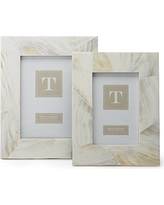 Two's Company   OCEAN SAND MOTHER OF PEARL FRAME - 5X7 $62.00