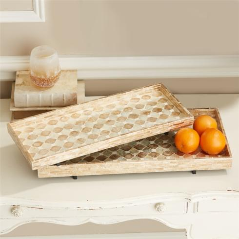 Two's Company   MOTHER OF PEARL TRAY $88.00