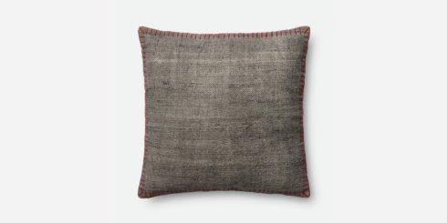 Loloi Rugs   GREY AND RED PILLOW $90.00