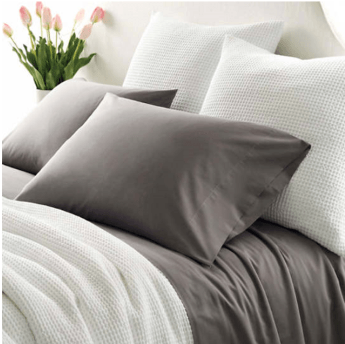 $174.00 ESSENTIAL PERCALE GREY SHEET SET - KING