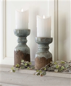 $22.00 RUSTIC CANDLE HOLDER - LARGE