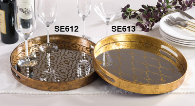 Saro Designs   GOLD SERVING TRAY $54.00