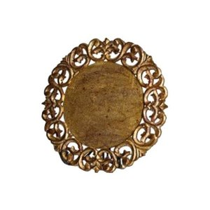 VENDOME ROUND GOLD WOODEN PLACEMATS