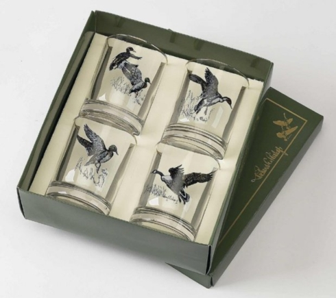 Richard E Bishop   WATERFOWL DOUBLE OLD FASHION SET $48.00