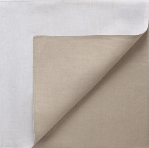 Chilewich   REVERSIBLE NAPKINS FLAX/WHITE $18.00