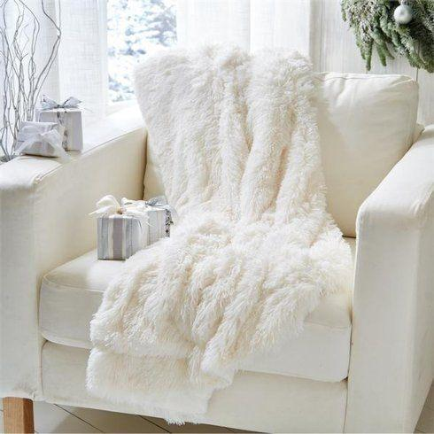 Two's Company   WHITE THROW BLANKET $86.00