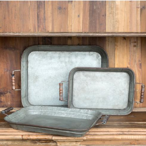 Park Hill Collection   MEIDUM FARMHOUSE METAL TRAY $25.00
