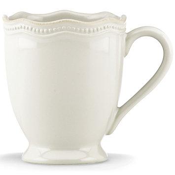 Lenox  FRENCH PERLE BEADED WHITE MUG $15.95