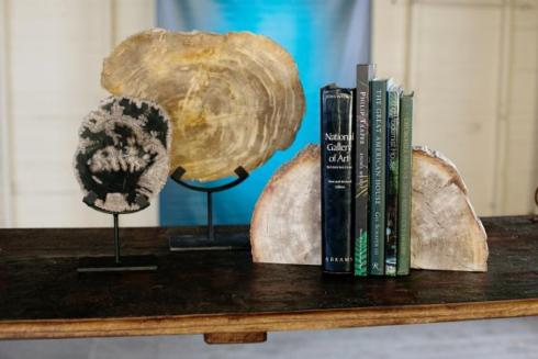 Blue Ocean Traders   PETRIFIED WOODEN BOOKENDS  $164.00