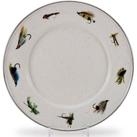 Golden Rabbit   Fishing Fly Dinner Plate $17.99