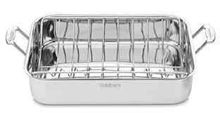 Cuisinart   Cuisinart Chef's Classic Stainless 16-Inch Rectangular Roaster with Rac $59.99