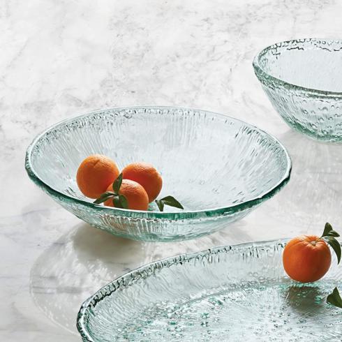 $36.99 Spanish Glass Serving Bowl