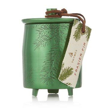 FRASIER FIR HERITAGE SMALL GREEN METAL TIN CANDLE collection with 1 products