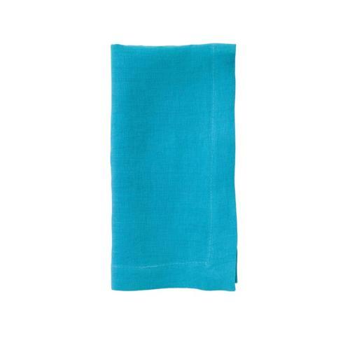 Bodrum   Riviera Washable Linen Napkin, Turquoise  $17.99