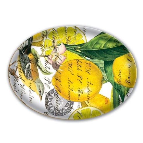 $10.99 Lemon Basil Glass Soap Dish