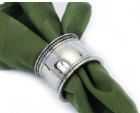 Kitchen Collage Exclusives   Pearl Beaded Silver Napkin Ring $7.49