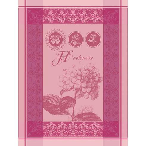 Garnier-Thiebaut   Torchon Hortensia Rose Kitchen Towel $23.00