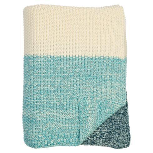Housewares   Darzzi Marl Moss Stripe Throw Navy/Natural/Beach Blue $100.00