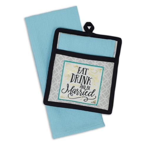 Housewares   DII Eat, Drink, and Be Married Pot Holder $12.50