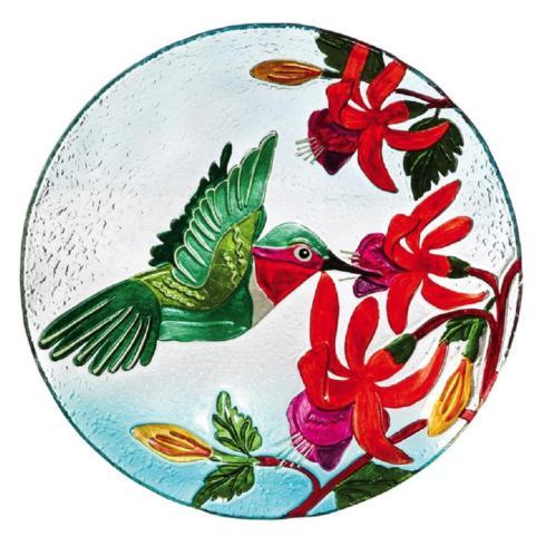Housewares   Hummingbird Glass Bird Bath $46.00