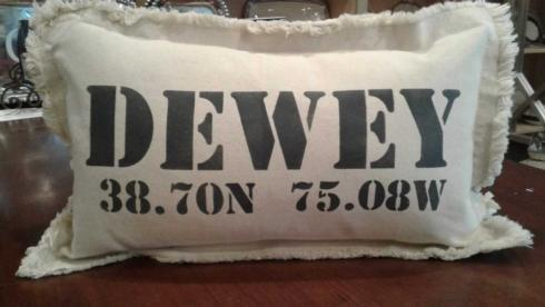 Housewares   Dewey Coordinates Pillow in Hale Navy $54.00